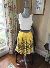 NWT Hype Dress Yellow Embroidered Skirt cut-out back Size 6