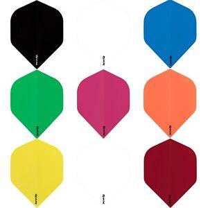 Extra Tough Dart Flights DSX 100 Standard Shape Plain Solid Colours 1-10 Sets