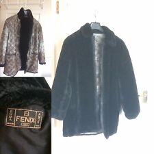 Fendi reversible mens faux fur coat vintage - London Fashion Week - LFW