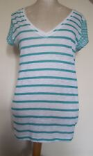 aeropostale t shirt large white with green stripes new with tag