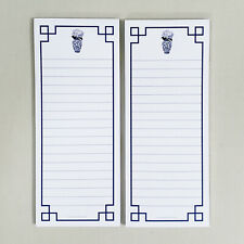 SET OF 2 Refrigerator Notepads.  Blue and White Ginger Jar Chinoiserie w/Magnet