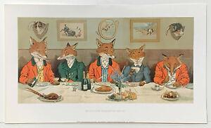 Mr Fox's Hunt Breakfast on Xmas Day by Harry B. Neilson reproduction print