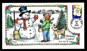 1¢ WONDER ~ 2005 COLLINS HAND-PAINTED FIRST DAY COVER W/ HOLIDAY COOKIES ~ T183
