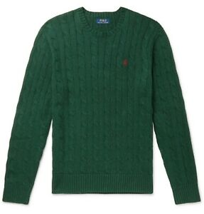 Polo Ralph Lauren Cable-Knit Cotton Jumper College Green