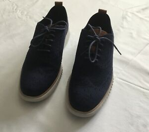 Cole Han Zerogrand Wing Oxford Men's Navy Shoes