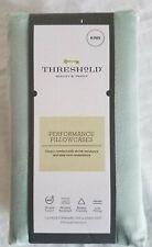 KING 400 Thread Count Performance Pillowcase MINT ASHKING GREEN - Threshold
