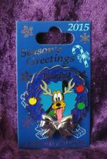 Disneyland Diamond Wreath Pluto Diamond 60th Anniversary LE 2000 Seasons Greetin