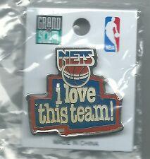 NBA New Jersey Nets i love this team! Pin NEW Basketball OOP NIP