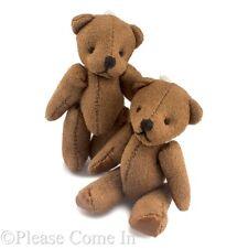 "10pcs Mini Dark Brown Teddy Bear Party Favors Soft Plush Teddy 60mm (2.4"")"