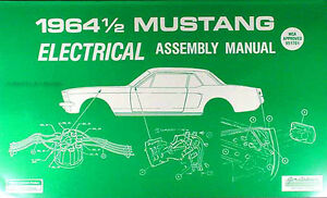 1964 Ford MUSTANG Eléctrico Montaje Manual Cableado 64 Fábrica