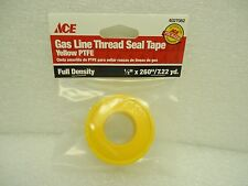 """(NEW) ACE Gas Liner Thread Seal Tape 4027082 Yellow PTFE 1/2"""" X 260"""""""
