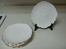 Elizabethan Fine Bone China ~ Set of 7 Plates ~ 9 inch ~ Gold Trim