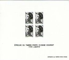 EPREUVE DU TIMBRE D'USAGE COURANT TYPE LIBERTE 1F80  - BRISTOL SANS GOMME