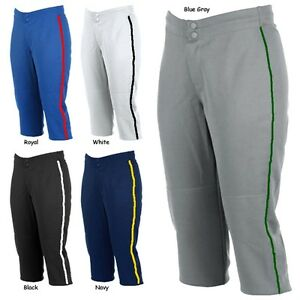 Rawlings Adult Womens WKP Low Rise Faspitch Softball Pants With Custom Piping