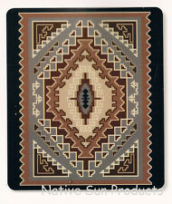 "Ultra Soft Plush Queen Blanket Bold Geometric Southwestern Design 79x95"" New BQ7"