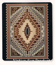 "Ultra Soft Plush Queen Blanket Bold Geometric Southwestern Design 79x95"" New BQ7"