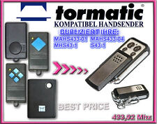 TORMATIC MAHS433-01, MHS43 - 1, S43-1 kompatibel handsender, KLONE 433,92Mhz