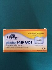Alcohol Prep Pads Liberty 70% Isopropyl Swabs Diabetic / Tattoo Care Medium