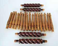 """Wood Spindles Vintage Architectural Salvage 6""""-8"""" Estate Lot Sold As Found"""