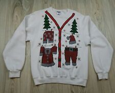 Christmas Ugly Sweater Men's Size Medium White Holidays Parties Family