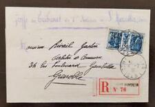 FRANCE Yvert N°274 seul sur lettre recommandée au tarif. Cachet Saint MARCELIN.