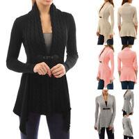 Women Blouse Cardigan Coat Long Sleeve Sweater Casual Knitted Cardigan Outwear
