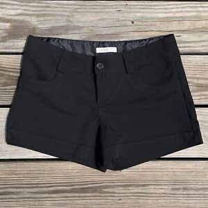 Arden B Shorts Flat Front Stretch Cuffed Black Womens Size 8