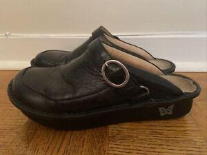 Alegria Seville Yeehaw Black Leather Mules SEV-691 Women's Size 40 EUR