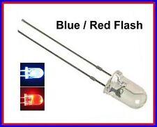 50 Blue / Red Flash 5mm Blink LEDs Free Resistors