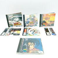 Lot 4 jeux Samurai Shodown / Spirits 1 2 3 RPG - SNK Neo Geo CD - JAP Avec Spin