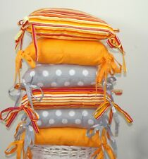 DESIGNER BABY PILLOW with RIBBONS ( 23 colours )