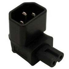IEC 320 C14 to IEC C7 Right angle Power Adapter Black M3T2