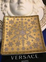 VERSACE GOLD TRAY PLATE Medusa 9cm ROSENTHAL COLLECTIBLE BEST GIFT NEW SALE