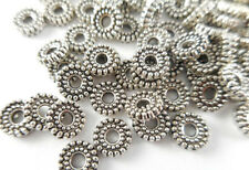 100 Silver Plated Dotted Spacer Beads Findings