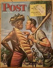 SATURDAY EVENING POST APRIL 21 1945 NAZI CLOWNS BASEBALL BABY SNATCHER INDIES