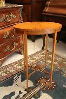 Petite table volante guéridon ovale boout de canapé acajou blond style victorien