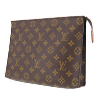 LOUIS VUITTON Poche Toilette 26 Clutch Bag Monogram M47542 Authentic #PP335 Y