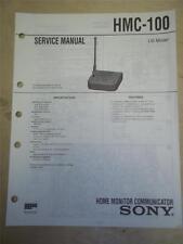 Sony Service Manual~HMC-100 Home Monitor Communicator~Original~Repair