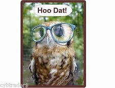Cool Funny Owl With Glasses  Refrigerator / Locker  Magnet