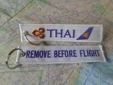 Thai airways remove before flight keyring keychain
