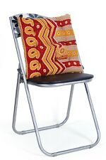 Indian Cotton Paisley Kantha Quilted Chair Pad Pillow Pad Cushion Seating Ethnic