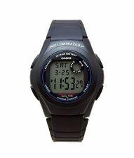 Casio F200W-1A Mens Black Resin Digital LCD Sports Watch w/ Illuminator NEW