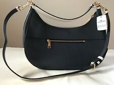 NWT Womens Coach Midnight Chalk Colorblock Pebbled Leather Hobo Shoulder Bag