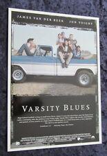 Varsity Blues uk synopsis card - Paul Walker, James Van Der Beek