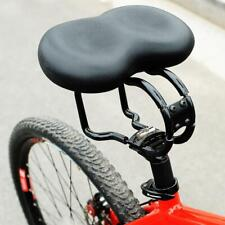 Big Wide Bum Saddle Seat Bike Bicycle Gel Cruiser Extra Comfort Soft Pad Black