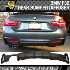 Fits 13-16 F32 428I MP Style Rear Diffuser Single Muffler With Twin Outlet PP