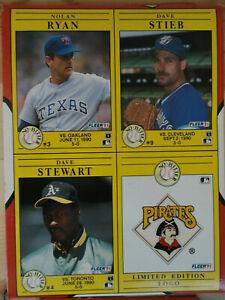 1991 Fleer Baseball Empty Wax Box No Hitters Nolan Ryan Dave Stieb Dave Stewart