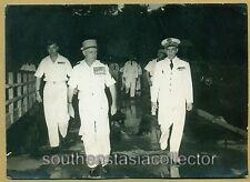 France Général  Raoul Salan & Admiral Philippe Aboyneau in 1950