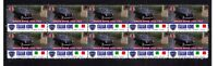 LANCIA APPIA, ITALIAN ICONS STRIP OF 10 MINT VIGNETTE STAMPS 2