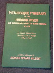 Jacques G Milbert PICTURESQUE ITINERARY OF HUDSON RIVER 1968 facsimile portfolio